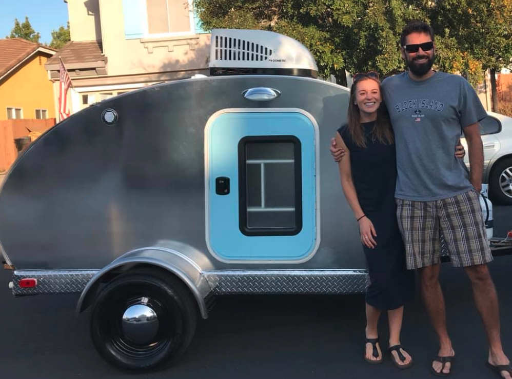 Nathan and Stacey created a camper better than we could have ever imagined! Nathan's creativity and attention to detail is amazing. He thought of everything that could make this the most functional and comfortable trailer ever (cup holders, lights everywhere, pouches for charging phones, cabinets that double as a laptop holder...). We are so happy we chose to have a custom trailer made by Nathan instead of a manufacturered one. Thank you for all your hard work Nathan and Stacey!